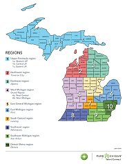 Map of Michigan Location Preferences